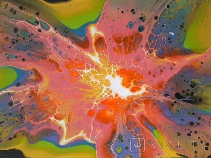 Картина/ живопис/ абстракція Fluid Art #70 acrylic, фото №10