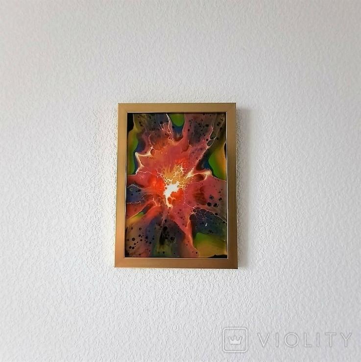 Картина/ живопис/ абстракція Fluid Art #70 acrylic, фото №12