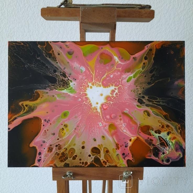 Картина/ живопис/ абстракція Fluid Art #71 acrylic, фото №6