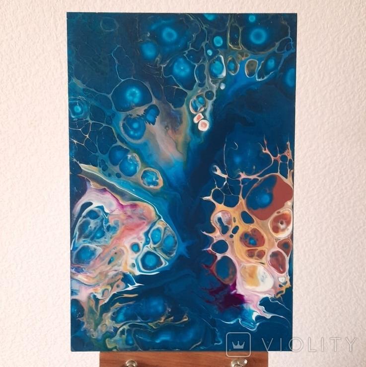 Картина/ живопис/ абстракція Fluid Art #72 acrylic, фото №3
