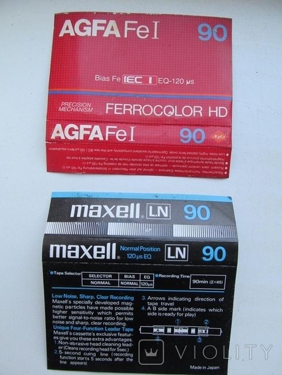 Вкладыши для аудиокассет 80-90 годов 6 штук, фото №3