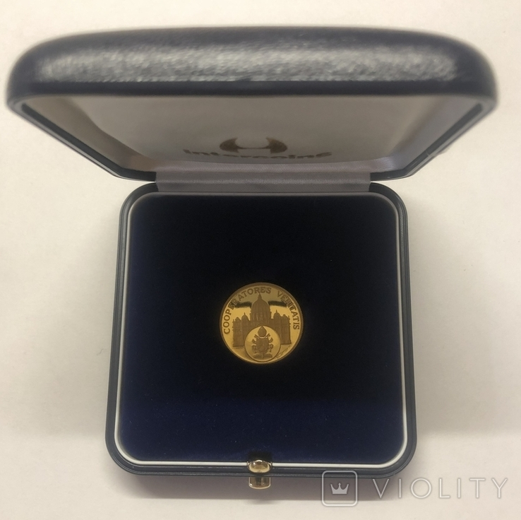 Жетон-монета Бенедикт XVI. Ватикан, фото №4