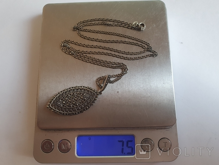 Кулон + цепочка 60 см. Серебро 925 проба., фото №9