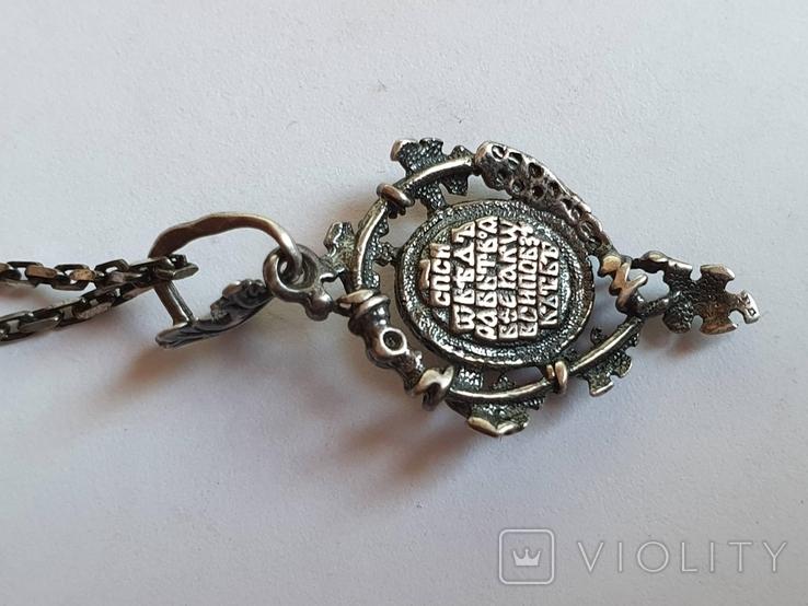 Иконка. Ладонка. Цепочка 60 см. Серебро 925., фото №5