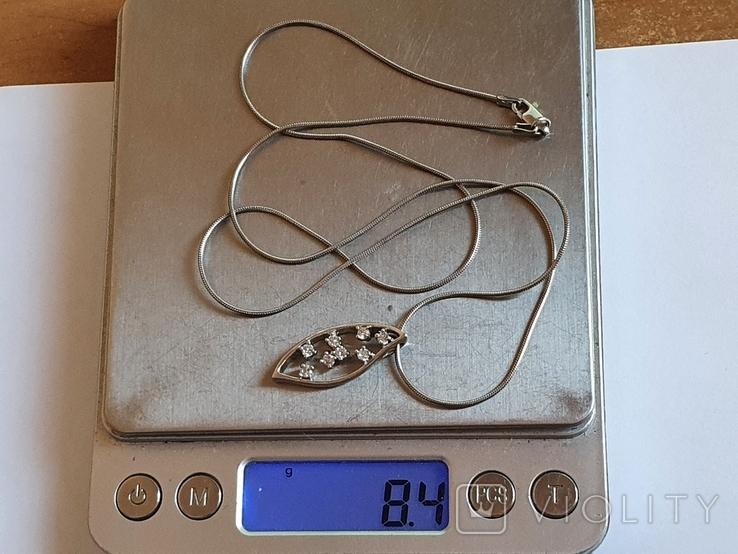 Подвес + цепочка 60 см. Серебро 925 проба., фото №10
