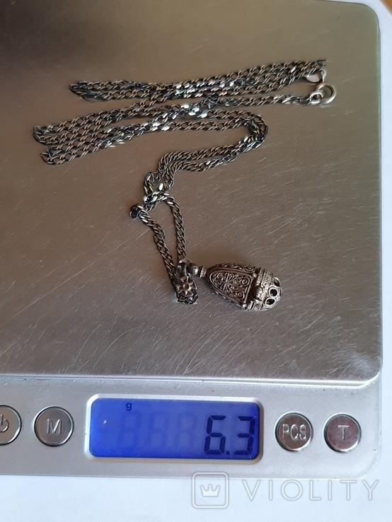 Ладонка. Цепь 60 см. Серебро 925 проба., фото №10