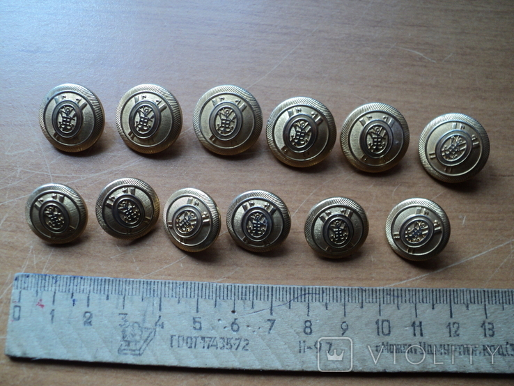Комплект пуговиц с якорями(12шт)., фото №2