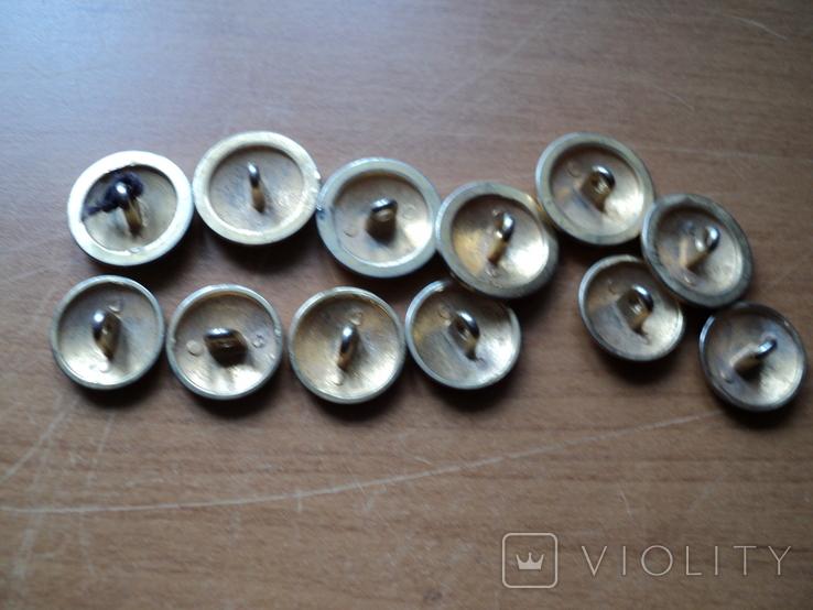 Комплект пуговиц с якорями(12шт)., фото №4