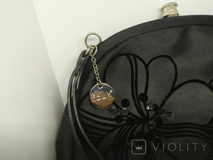 Вечерняя сумочка - клатч на ручке. French Connection United Kingdom, FCUK. 21х16см, фото №3