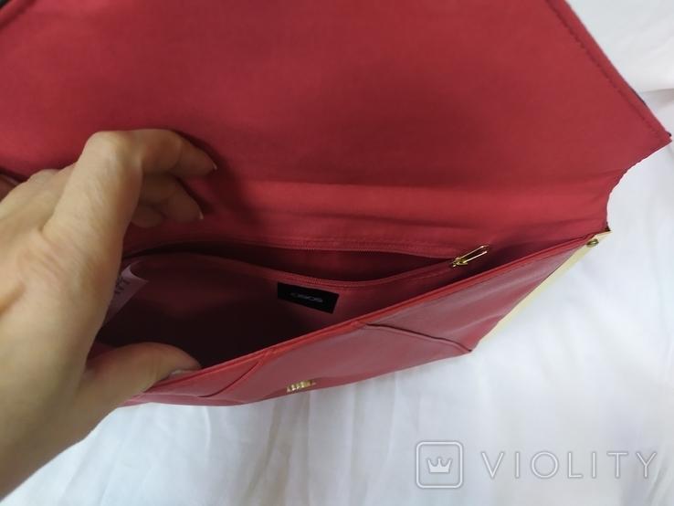 Клатч Красно-черный Asos. Новый. 31,5х19,5см, фото №7