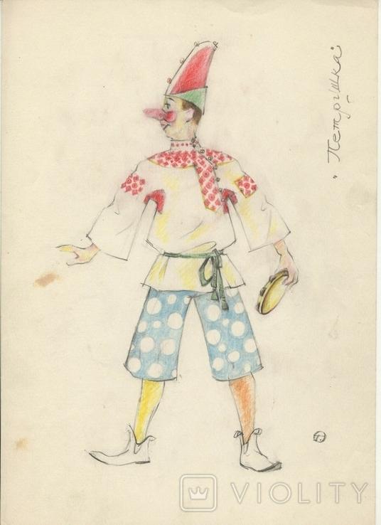7 цветных театральных экскизов, авт. Георгий Орлов, 60-ые годы., фото №6