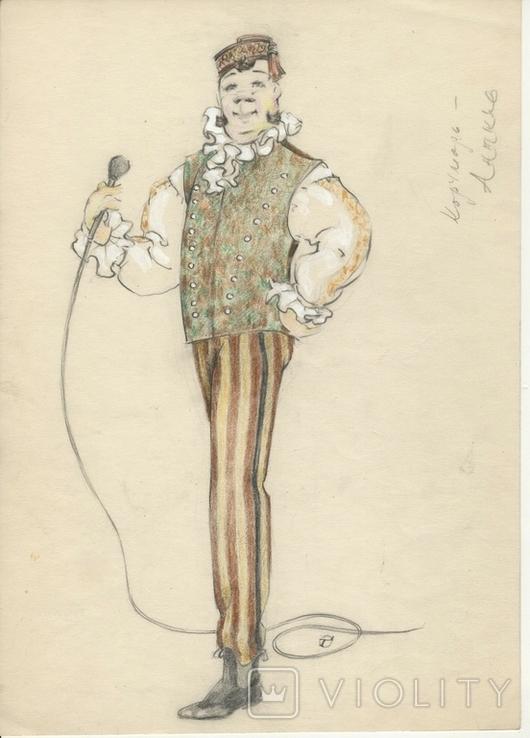 7 цветных театральных экскизов, авт. Георгий Орлов, 60-ые годы., фото №8