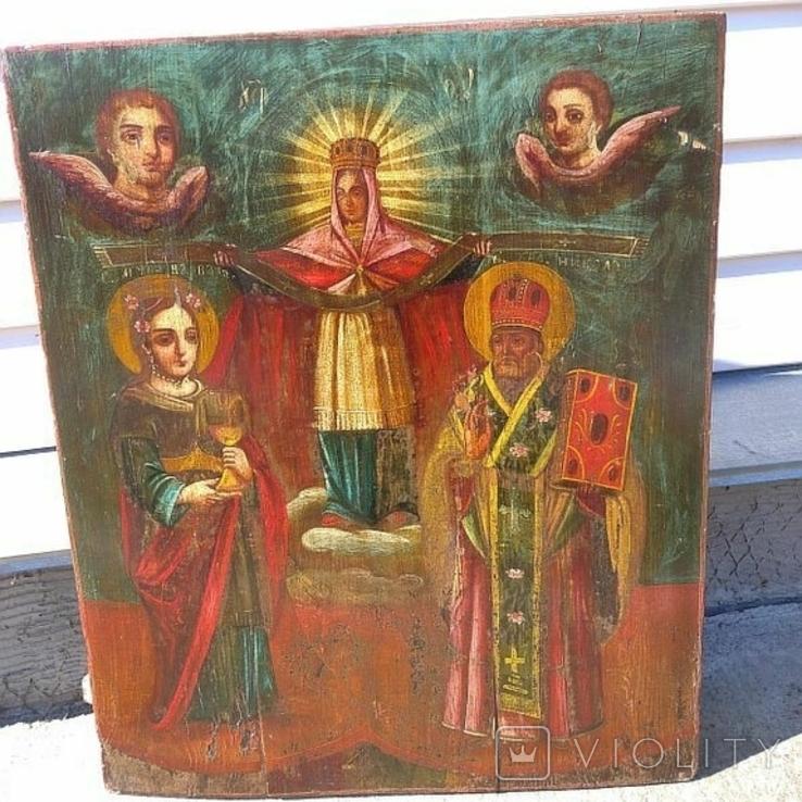 Покров Пресвятой Богородицы ( 57 на 70 см ), фото №3