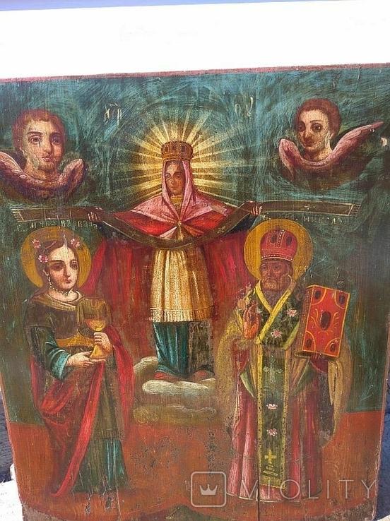 Покров Пресвятой Богородицы ( 57 на 70 см ), фото №4