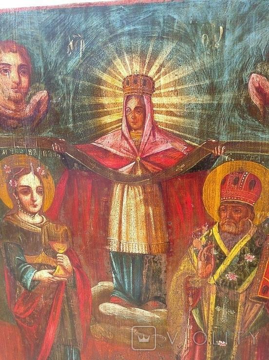 Покров Пресвятой Богородицы ( 57 на 70 см ), фото №6