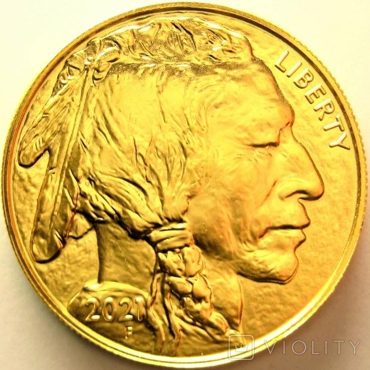 США 50 долларов 2021 г. Баффало, фото №2