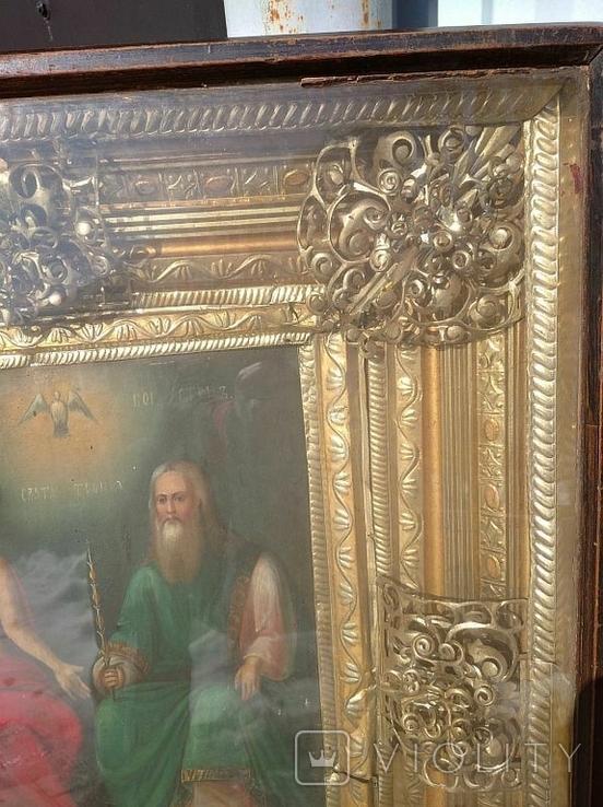 Святая Троица - старинная икона ( 60 на 70 см), фото №6