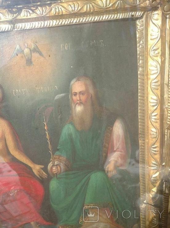 Святая Троица - старинная икона ( 60 на 70 см), фото №13