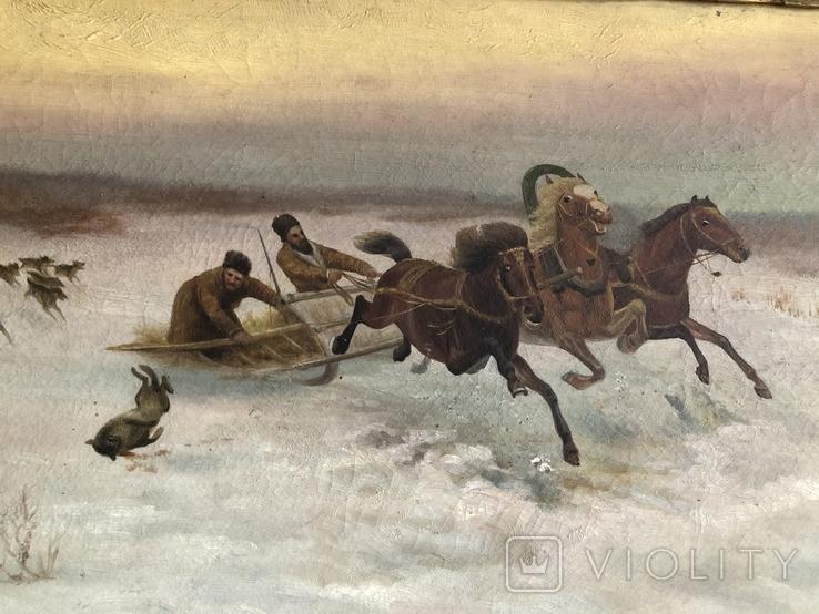 Тройка лошадей худ. А. Antocьев, фото №3