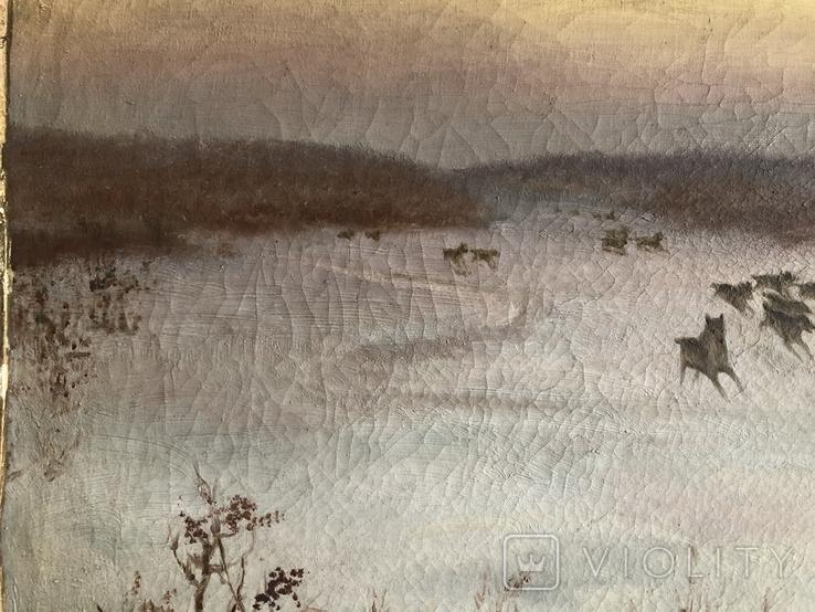 Тройка лошадей худ. А. Antocьев, фото №5