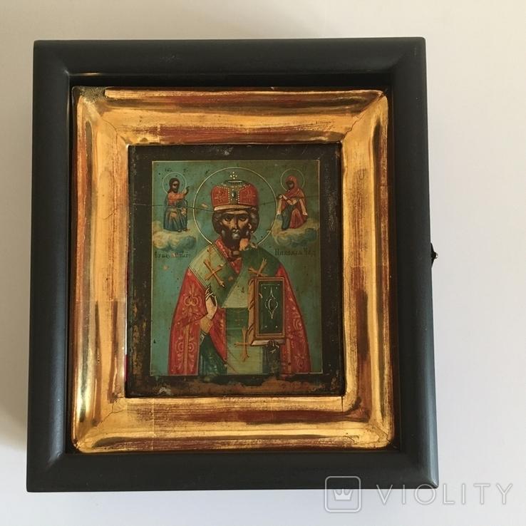 Старинная икона Св. Николая Чудотворца, фото №2