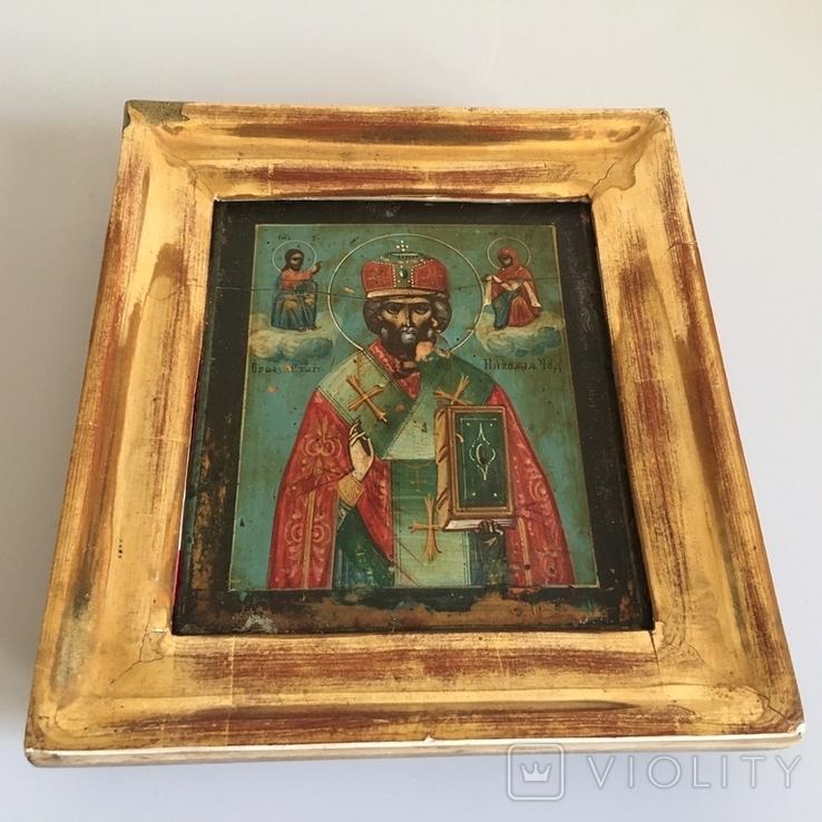 Старинная икона Св. Николая Чудотворца, фото №5