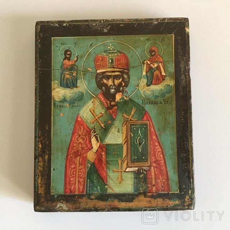 Старинная икона Св. Николая Чудотворца, фото №7