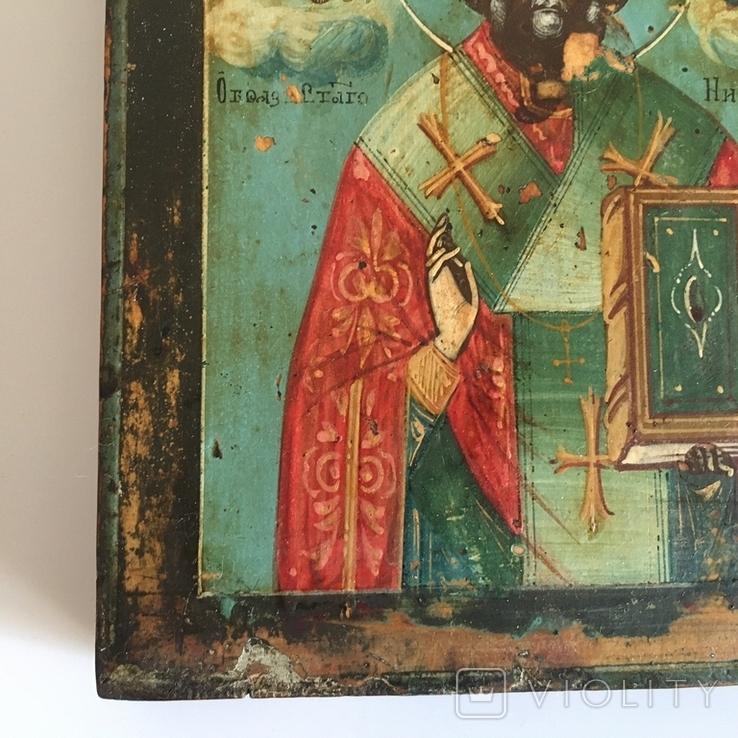 Старинная икона Св. Николая Чудотворца, фото №8