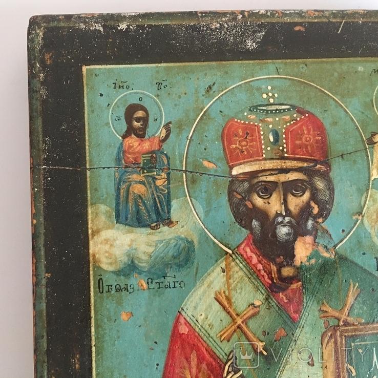 Старинная икона Св. Николая Чудотворца, фото №10
