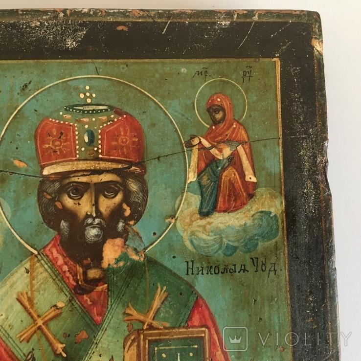 Старинная икона Св. Николая Чудотворца, фото №11