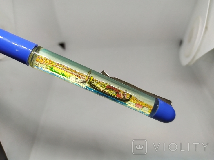 Ручка шариковая с плавающим корабликом. Venezia, фото №4