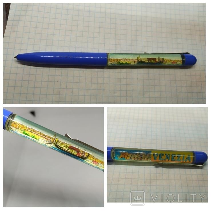Ручка шариковая с плавающим корабликом. Venezia, фото №2
