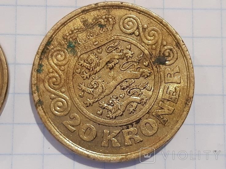 10 и 20 крон, Дания, фото №4