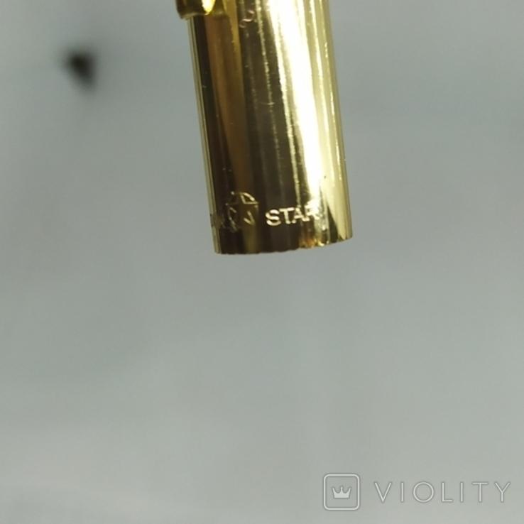 Ручка перьевая с золотым пером Golden Star. Китай., фото №7