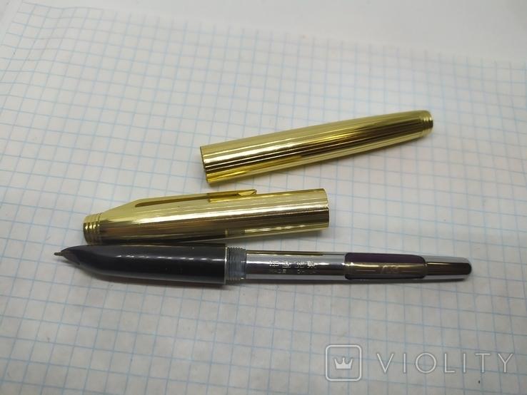 Ручка перьевая с золотым пером Golden Star. Китай., фото №9