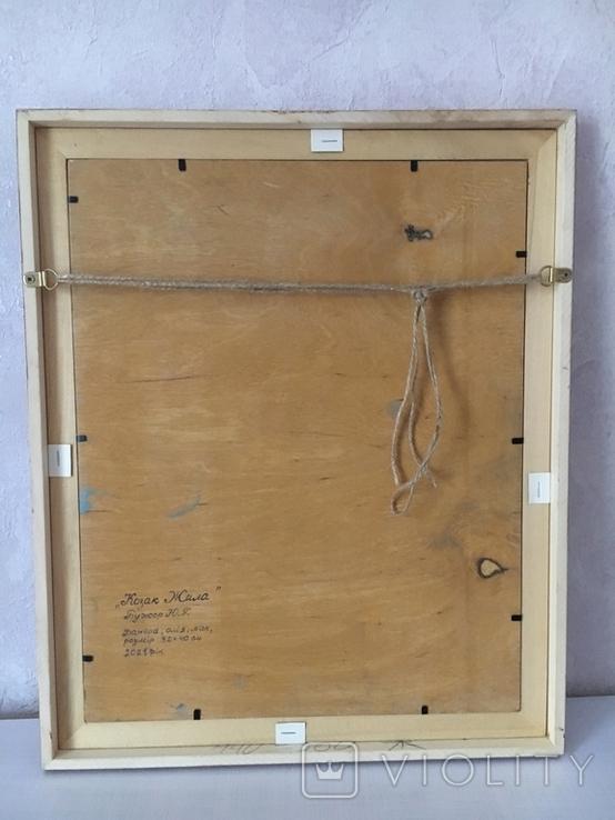 Козак Жила, фанера/олія, 32х40 см, фото №3