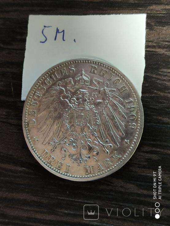 """3 марки """"Отто""""1909г., фото №5"""