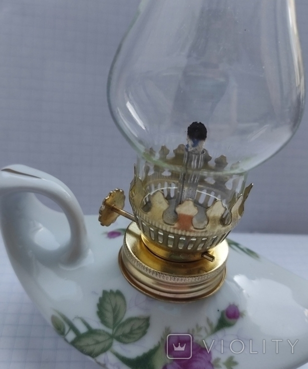 Гасова лампа фарфор, фото №8