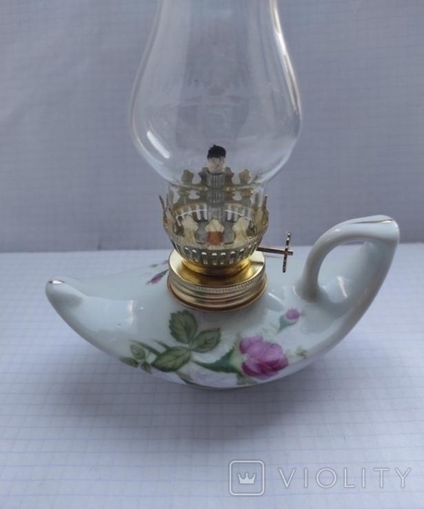 Гасова лампа фарфор, фото №11