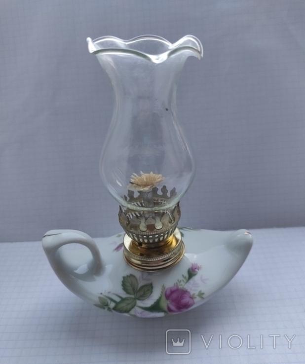 Фарфорова гасова лампа, фото №2