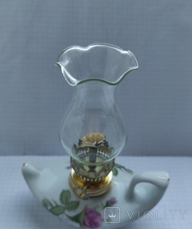 Фарфорова гасова лампа, фото №5