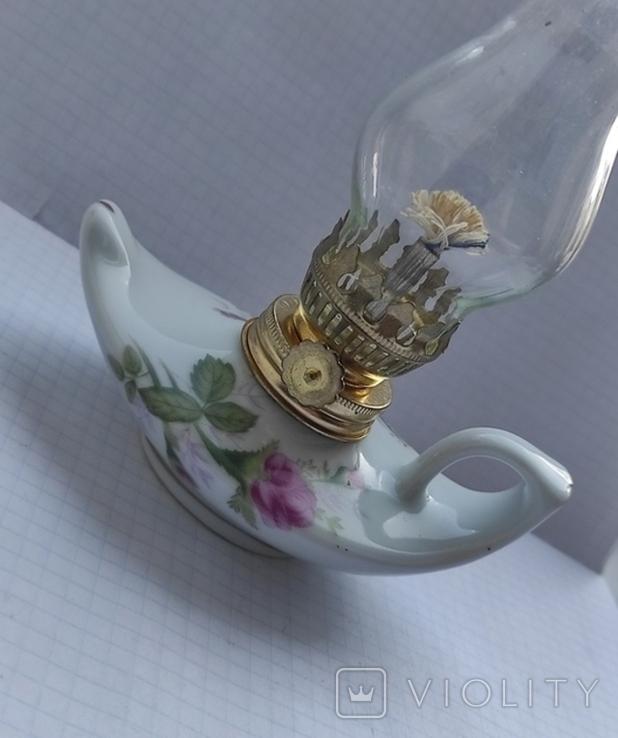 Фарфорова гасова лампа, фото №7