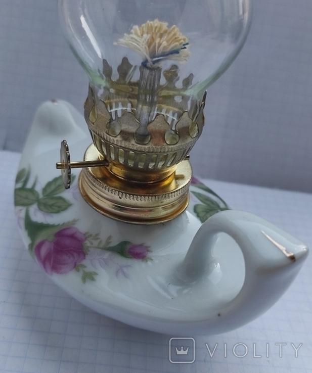 Фарфорова гасова лампа, фото №8