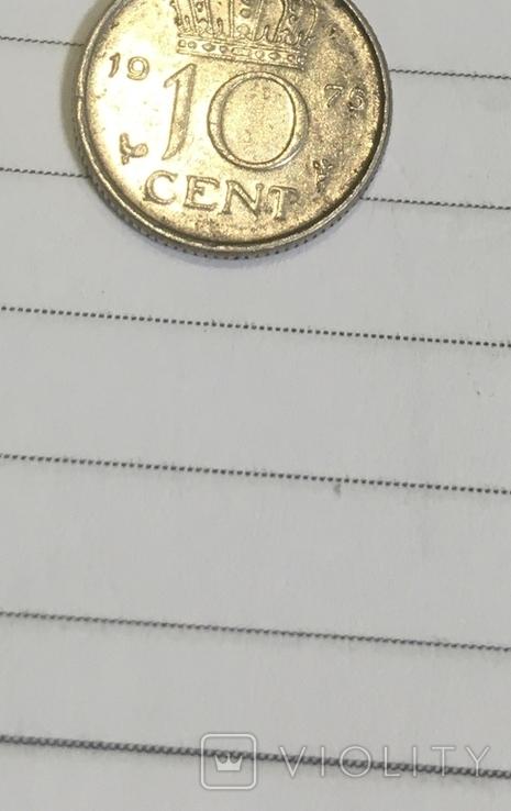 10 центов Нидерланды 1975 год, фото №8
