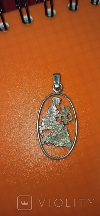 Серебряная подвеска 875 пробы, фото №3