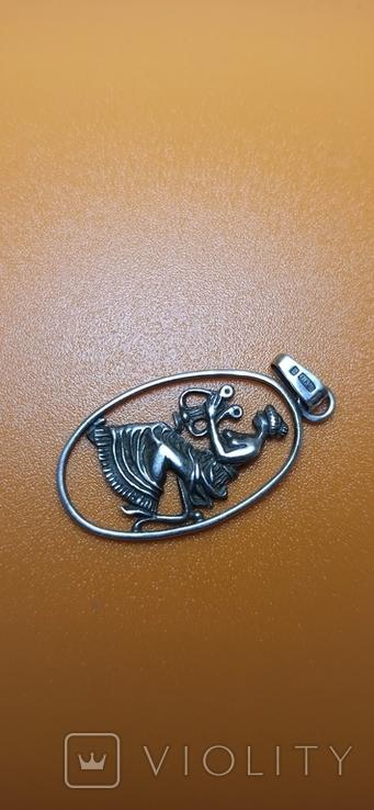 Серебряная подвеска 875 пробы, фото №6