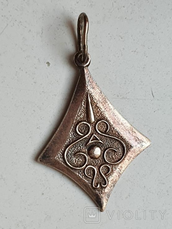 Советский кулон. Серебро 875. Позолота., фото №2