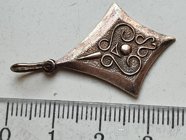 Советский кулон. Серебро 875. Позолота., фото №4