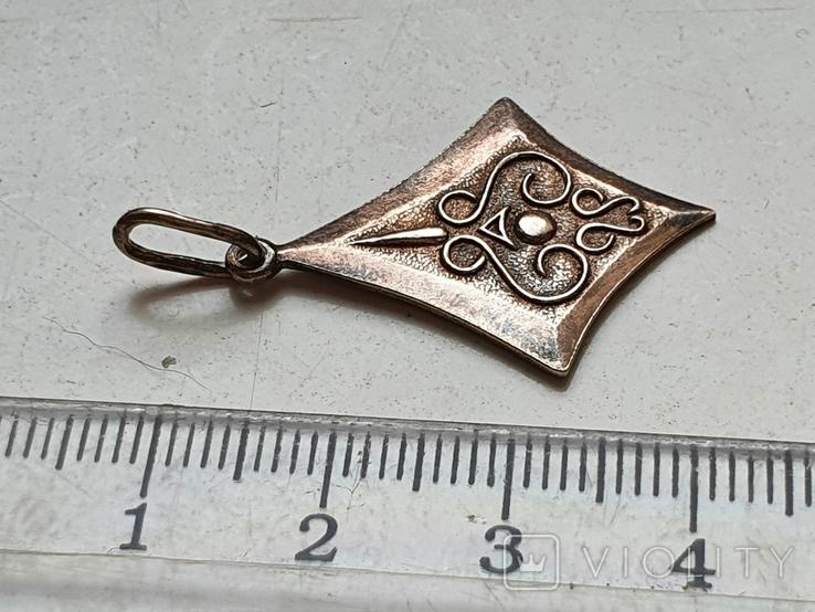 Советский кулон. Серебро 875. Позолота., фото №8