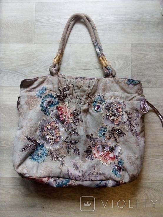 Винтажная расшитая сумка Accessorize, фото №2